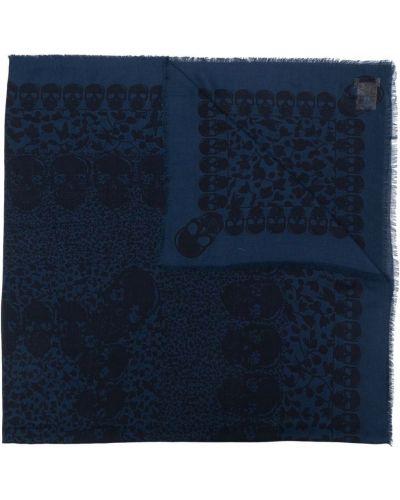 Niebieski szalik z wiskozy Zadig&voltaire