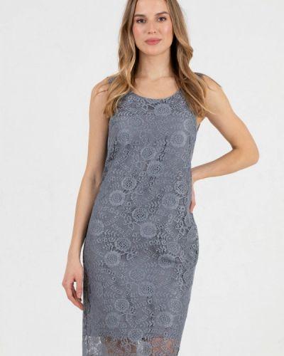 Прямое серое платье А-силуэта Key