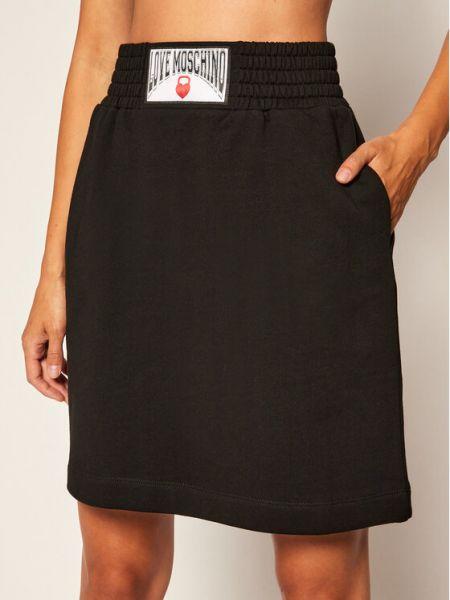 Czarna spódnica trapezowa Love Moschino