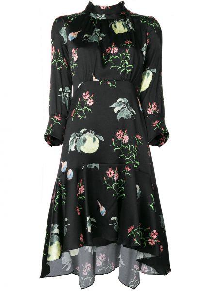 Платье с цветочным принтом шелковое Peter Pilotto