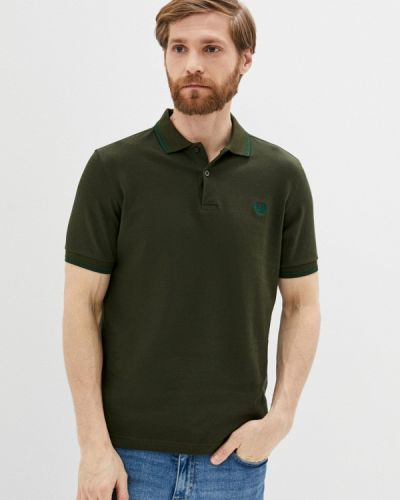 Зеленое поло с короткими рукавами Fred Perry