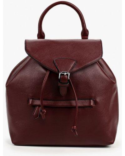 Красный городской кожаный рюкзак Izabella