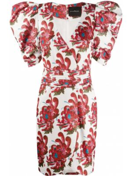 Платье мини с запахом с цветочным принтом John Richmond