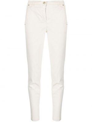 Хлопковые брюки узкого кроя с потайной застежкой Jacob Cohen