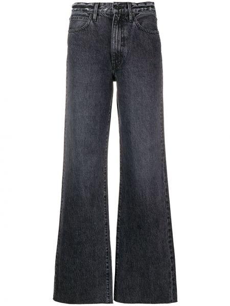 Серые деловые свободные широкие джинсы на пуговицах Slvrlake