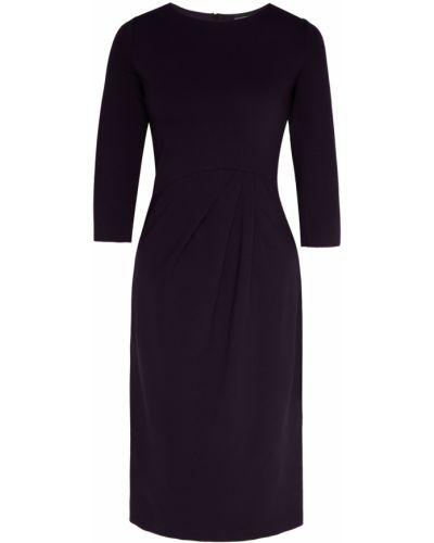 Платье миди облегающее из вискозы Emporio Armani