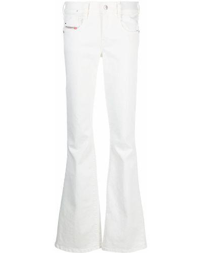 Белые джинсы классические с карманами с низкой посадкой Diesel