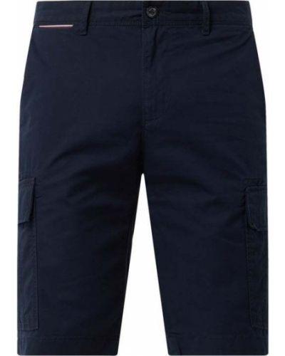 Niebieskie szorty cargo bawełniane Tommy Hilfiger