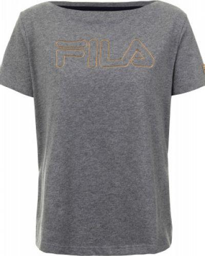 Серая спортивная футболка Fila