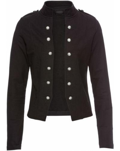 Пиджак милитари - черный Bonprix