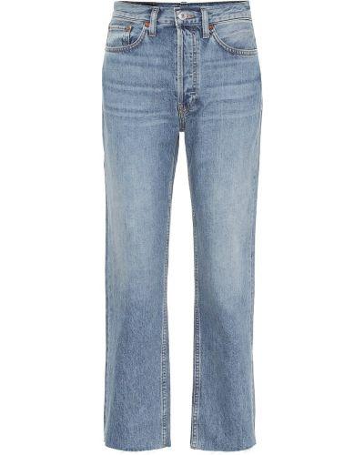 Ватные хлопковые синие прямые джинсы винтажные Re/done