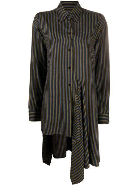 Рубашка из вискозы - черная Mm6 Maison Margiela