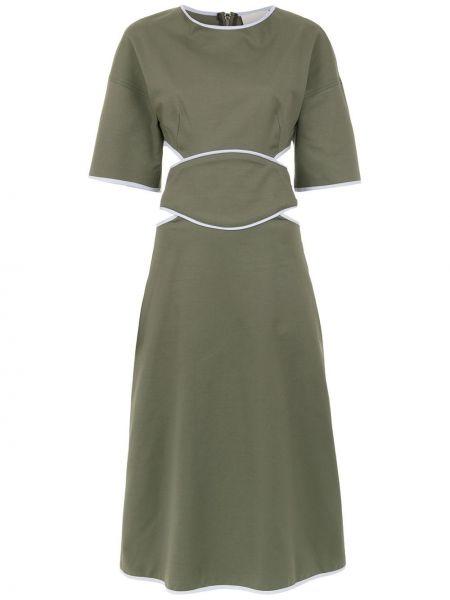 Платье мини миди зеленый Framed