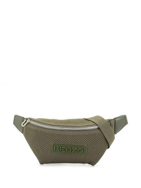 Зеленая поясная сумка на молнии сетчатая Kenzo