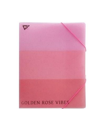 Розовая папка на резинке Yes