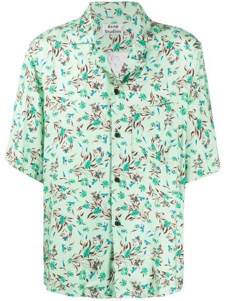Koszula krótkie z krótkim rękawem klasyczna lato Acne Studios