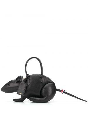 Кожаная черная сумка Thom Browne