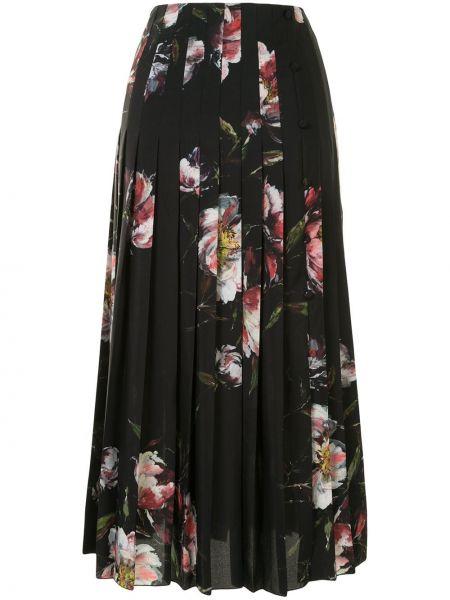 Плиссированная черная с завышенной талией плиссированная юбка Altuzarra