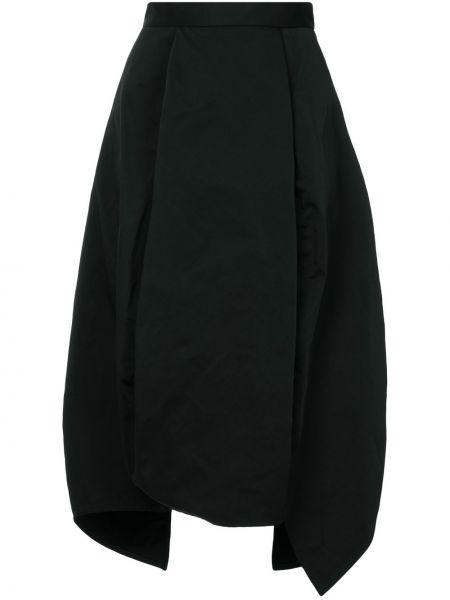 С завышенной талией черная юбка на молнии Taylor