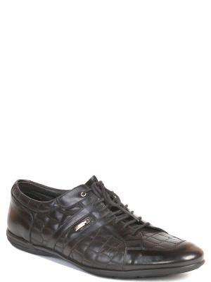 Кожаные кроссовки - черные Zilli