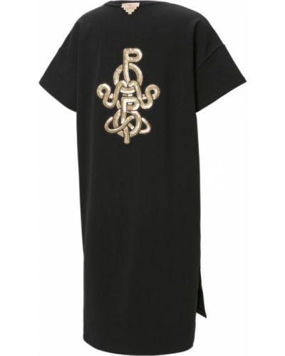 Черное хлопковое платье Puma
