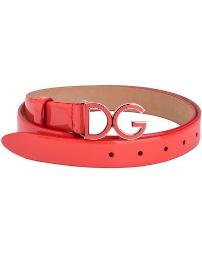 Ремень оранжевый лаковый Dolce & Gabbana