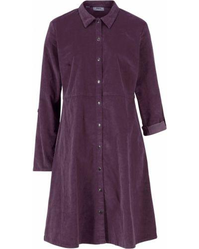 Платье вельветовое - фиолетовое Bonprix