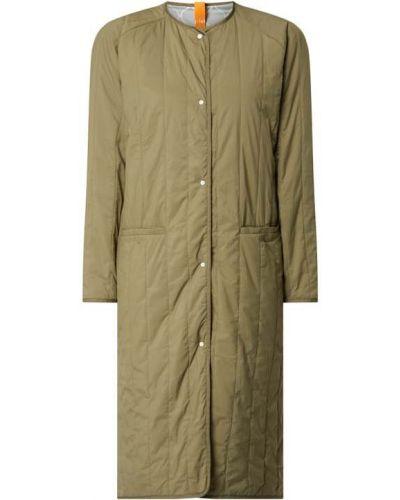 Zielony płaszcz pikowany z raglanowymi rękawami G-lab