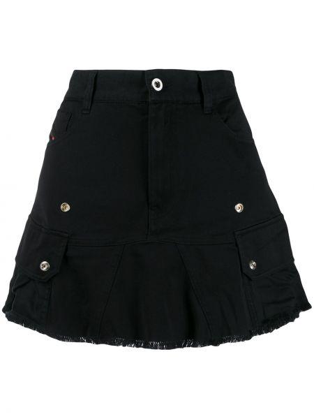 Dżinsowa spódnica z paskiem z kieszeniami Diesel