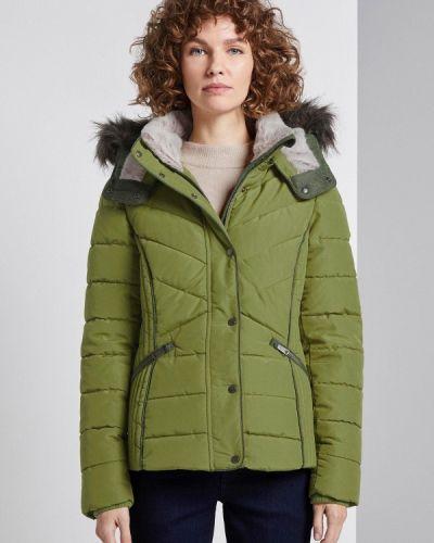 Зеленая утепленная куртка Tom Tailor
