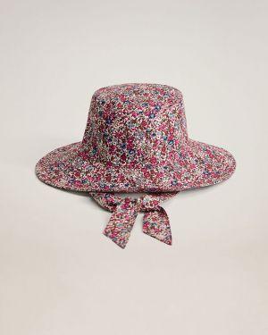 Różowy czapka beanie bawełniany Mango