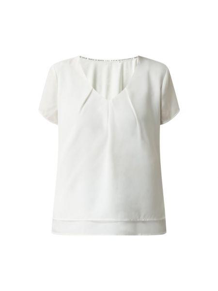 Biała bluzka z dekoltem w serek Taifun