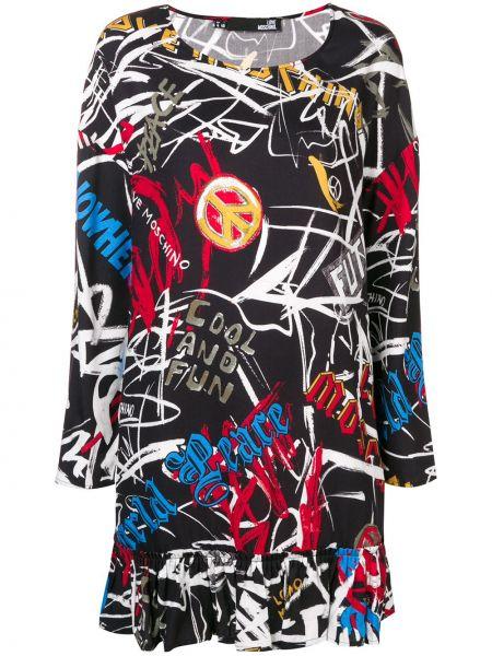Платье макси на тонких бретелях модерн Love Moschino