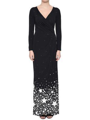 Платье из вискозы - черное Anna Rachele
