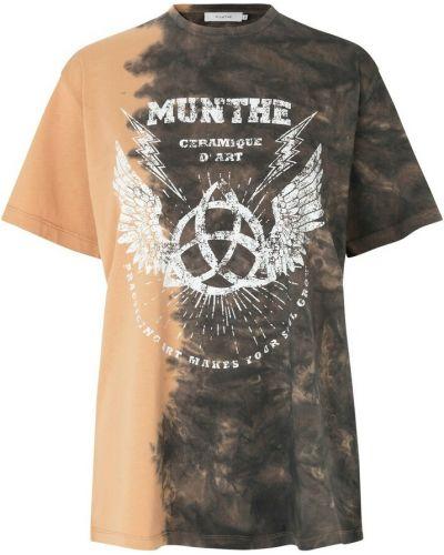Brązowa t-shirt Munthe