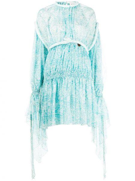 Платье макси с поясом шелковое Lanvin