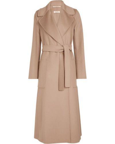Золотистое коричневое шерстяное пальто 's Max Mara