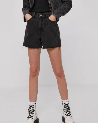 Grafitowe szorty jeansowe bawełniane casual Jacqueline De Yong