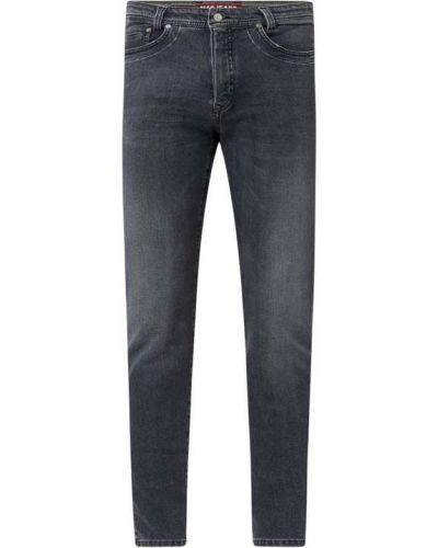 Bawełna bawełna jeansy z paskami z zamkiem błyskawicznym Mac