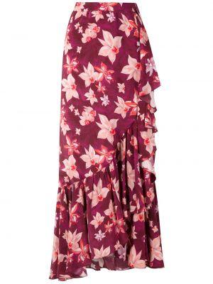 Шелковая красная юбка на крючках Isolda