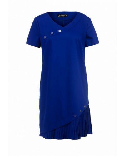 Платье мини осеннее синее Luann