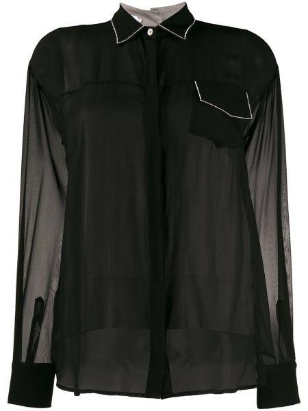 Черная рубашка с воротником Barba