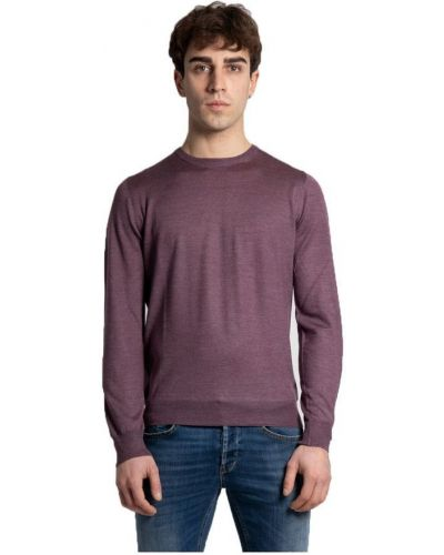 Fioletowy sweter oversize Gran Sasso