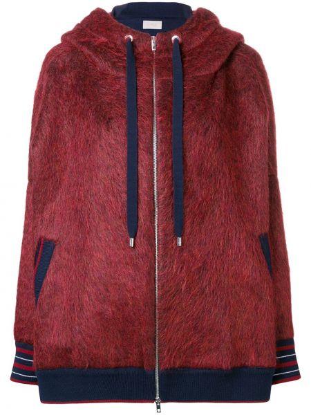 Шерстяная красная куртка с капюшоном Mrz