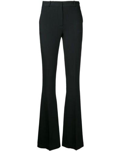 Черные расклешенные брюки с поясом Capucci
