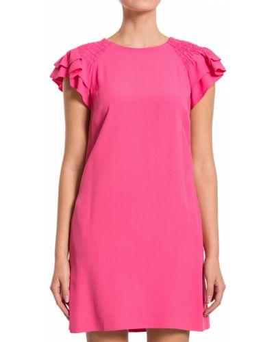 Акриловое розовое платье Red Valentino