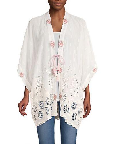 Ażurowe kimono z haftem Johnny Was