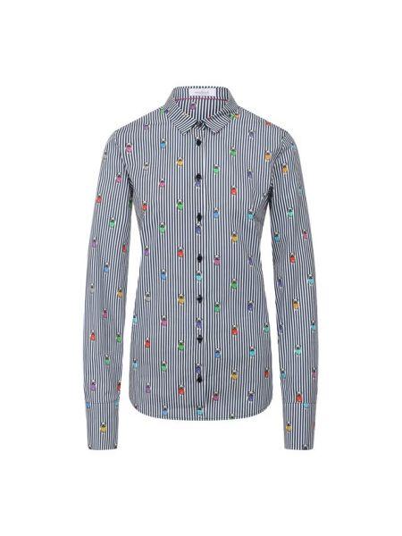 Джинсовая рубашка в полоску Van Laack