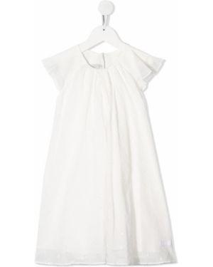 Biała sukienka bawełniana Baby Dior