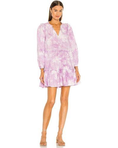 Хлопковое фиолетовое платье с декольте Generation Love
